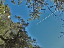 Pilot Mountain State Park Rock Wall stock photo