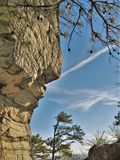 Pilot Mountain State Park Rock Wall royalty free stock image