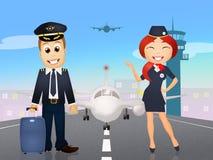 Pilot och lyxfnask royaltyfri illustrationer