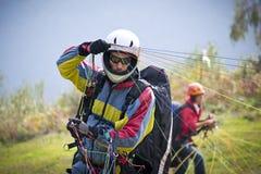 Pilot- Paraglider Royaltyfria Foton