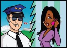 Pilot & passenger Royalty Free Stock Photos