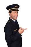 Pilot pointing Stock Photography