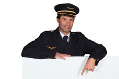 Pilot pointing Royalty Free Stock Images