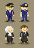 Pilot Policeman Judge and Lawyer Vector Illustration Stock Photography