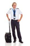 Pilot- portfölj för flygbolag Royaltyfria Bilder