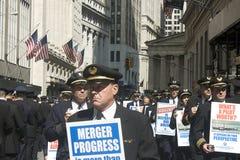 pilot protesten Arkivfoto