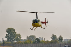 Pilot of Robinson R44 Raven on airshow Royalty Free Stock Image