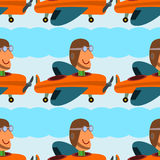 Pilot seamless background design Stock Photos