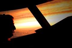 pilot solnedgången Arkivfoton