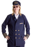 Pilot standing firm in her job Royalty Free Stock Images