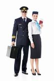 The pilot and stewardess Royalty Free Stock Photo