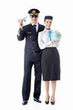 The pilot and stewardess Stock Photography
