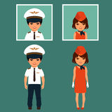 Pilot and stewardess, Stock Photography