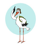 Pilot stork Royalty Free Stock Photo
