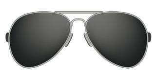 Pilot Sunglasses. Dark sunglasses on the white background Royalty Free Stock Photography