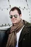 Pilot with Sunglasses Royalty Free Stock Photography