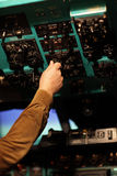 Pilot switches on toggle Royalty Free Stock Images