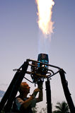 Pilot testing burner of Balloon Royalty Free Stock Photos