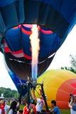 Pilot testing burner of balloon Stock Photography
