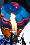 Pilot testing burner of balloon Royalty Free Stock Image