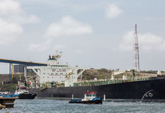 Pilot and Tug with Tanker Royalty Free Stock Photography