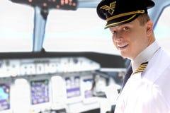 Pilot w kokpicie Zdjęcie Stock