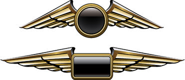 Pilot wings Stock Photos