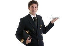 Pilota/capitano di linea aerea Fotografia Stock Libera da Diritti