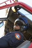 pilota del medevac di volo fotografia stock