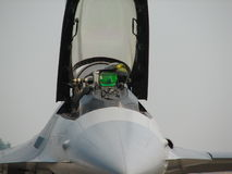 Pilota dell'aereo da caccia immagine stock libera da diritti
