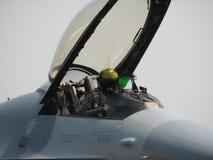 Pilota dell'aereo da caccia fotografia stock libera da diritti