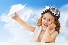 Pilota dell'aeroplano immagini stock libere da diritti