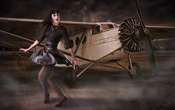 Pilota della ragazza immagini stock