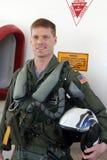 Pilota di jet del blu marino immagini stock