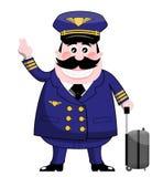 Pilota di linea aerea Fotografie Stock
