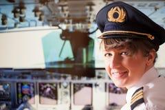 Pilota di linea aerea immagine stock