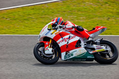 Pilota di Stefan Bradl di Moto2 nel MotoGP immagini stock
