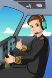 Pilota di un'illustrazione dell'aeroplano royalty illustrazione gratis