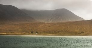 Pilota dom na wyspie Skye Obrazy Royalty Free