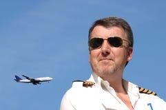 Pilota & jet Fotografia Stock