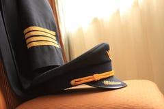 Pilota l'uniforme Fotografie Stock