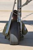 Pilota militare dell'aeroplano Fotografie Stock Libere da Diritti