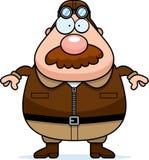 Pilota Mustache del fumetto royalty illustrazione gratis