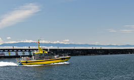 Pilota pacifico Boat dell'esploratore Fotografia Stock