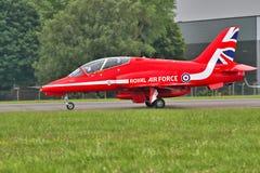 Pilota rosso delle frecce Fotografia Stock