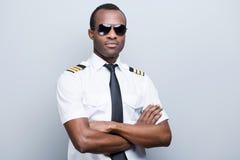 Pilota sicuro e con esperienza Fotografie Stock Libere da Diritti