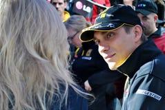 Pilota Vitaly Petrov di Renault F1 Fotografie Stock Libere da Diritti