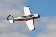 Pilotage airplane Yak-52 Royalty Free Stock Image