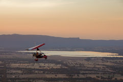Pilotare un Microlite Fotografie Stock