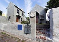 PilotDarrells fyrkant, siden- gränd - St George, Bermuda royaltyfri foto